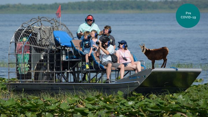 You Ve Heard Of Elf On The Shelf But What About Goat On An Airboat Myelf Goatsonairboats Florida Vacation Vacation Photos Airboat