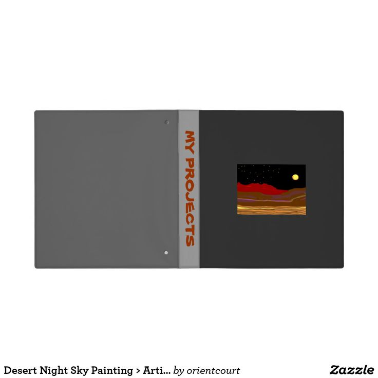Desert Night Sky Painting > Artistic Binder