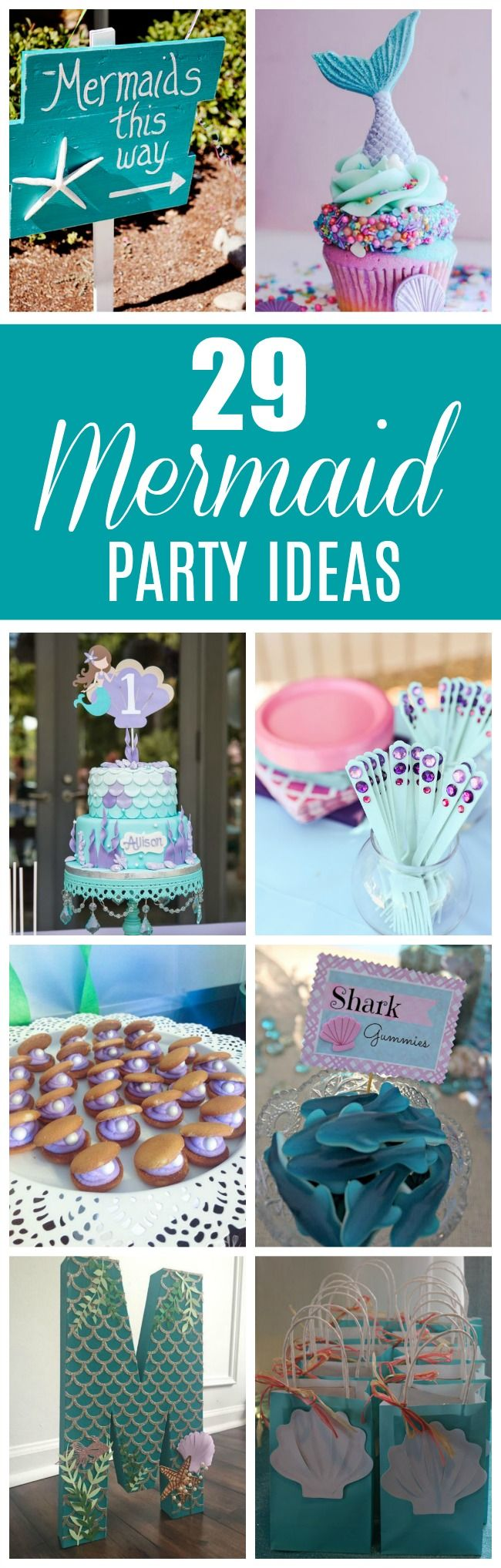These 29 Magical Mermaid Party Ideas will having you throwing your own fabulous mermaid themed party in no time. Get all of your mermaid party ideas here.