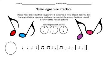 Common Music Time Signatures - dummies