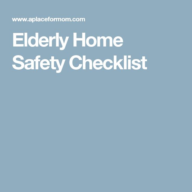 Elderly Home Safety Checklist
