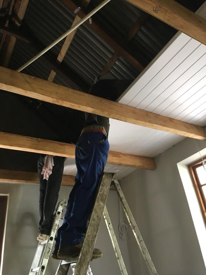 Isoboard Thermal Insulation Can Be Installed As A Ceiling Either As A Retrofit Beneath An Existin Finished Garage Tongue And Groove Ceiling Thermal Insulation