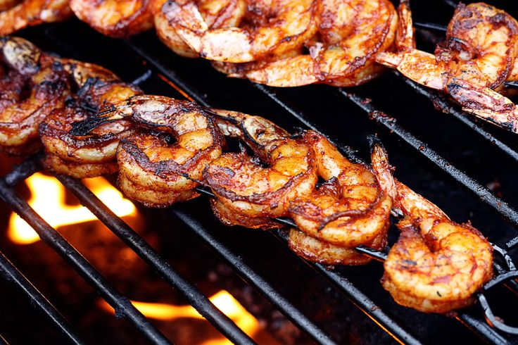 BBQ Grilled Shrimp-First day Shrimp Tacos -  Leftovers were served next day with Fettuccine Alfredo