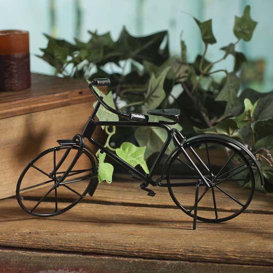Miniature Black Metal Bicycle