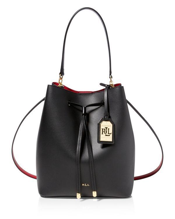 Lauren Ralph Lauren Medium Dryden Drawstring Bucket Bag