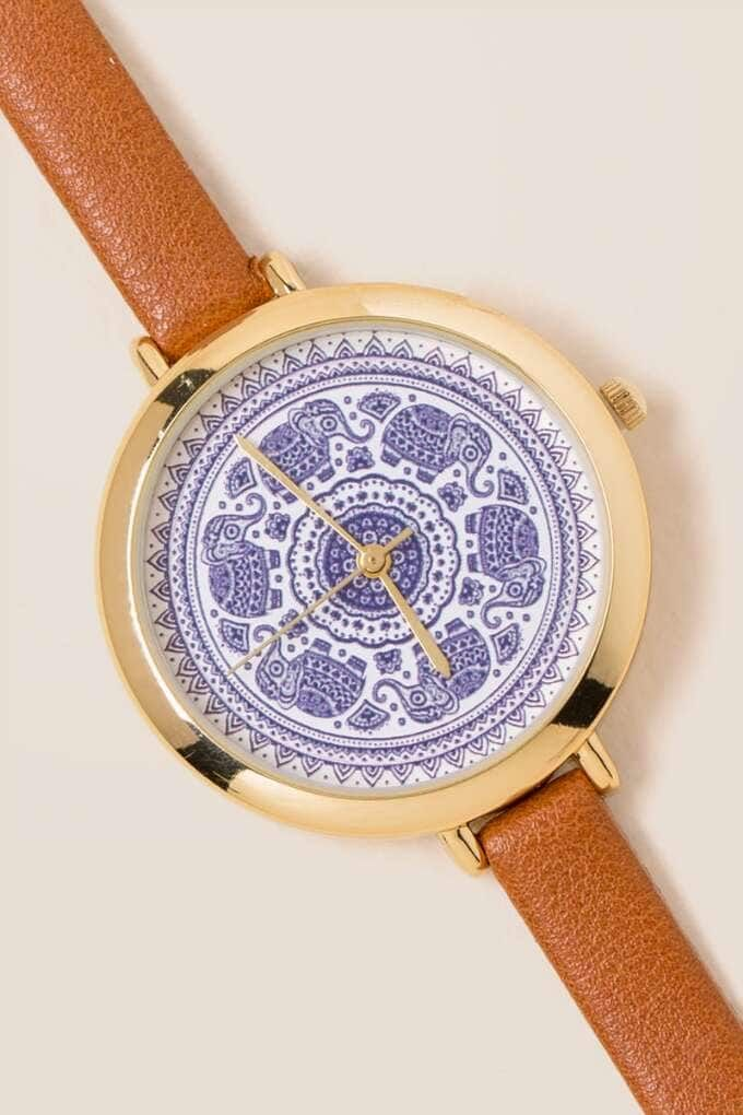 Aanya Mandala Elephant Watch