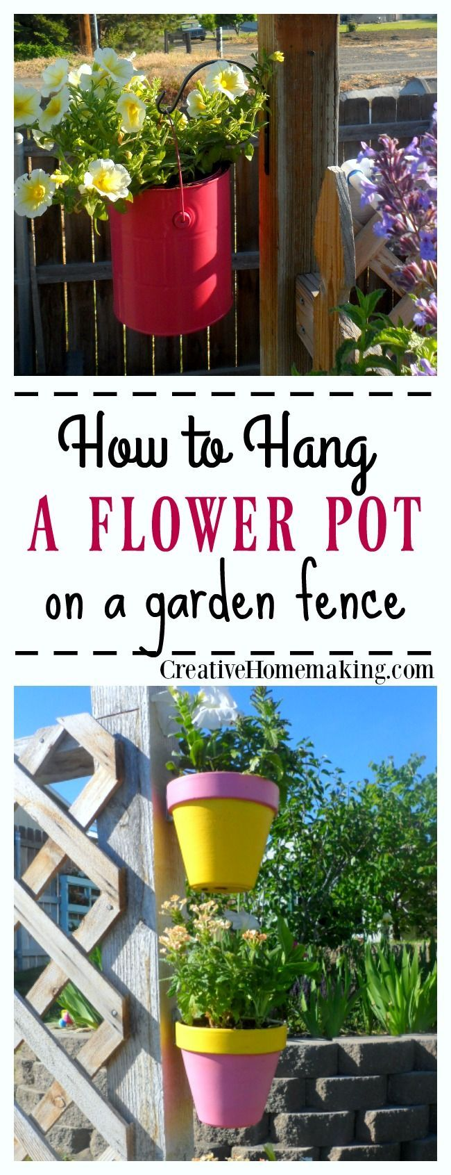 3 DIY Hanging Fence Planters 244 best