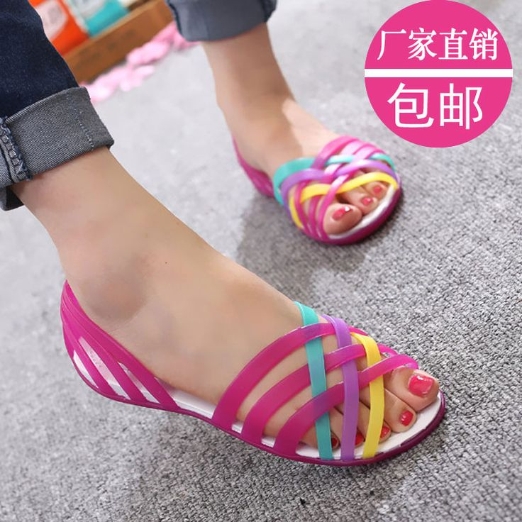 $4.97 (Buy here: https://alitems.com/g/1e8d114494ebda23ff8b16525dc3e8/?i=5&ulp=https%3A%2F%2Fwww.aliexpress.com%2Fitem%2FFlat-crystal-jelly-shoes-casual-open-toe-cutout-soft-outsole-sandals-comfortable-plastic-sandals-female%2F32680980711.html ) Flat crystal jelly shoes casual open toe cutout soft outsole sandals comfortable plastic sandals female for just $4.97
