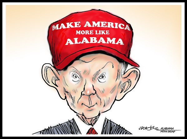 2016 the transition, Jeff Sessions, racist & Trump's cabinet position choice.