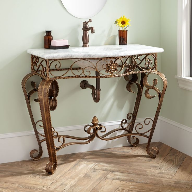 Wrought Iron Bathroom Vanities. cuzco freestanding ...