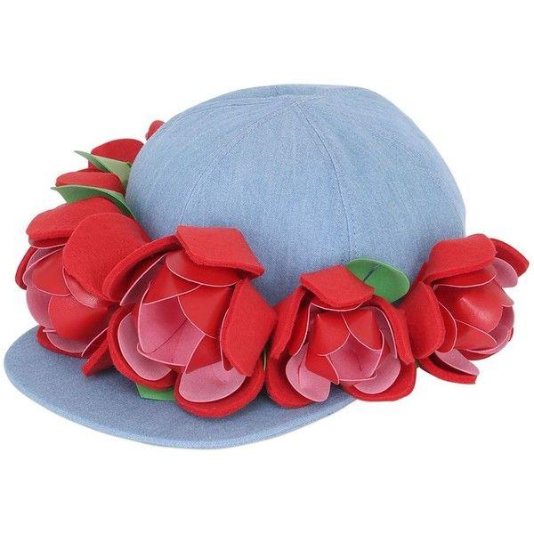 Francesco Ballestrazzi Women Baseball Hat W/ Rose Appliqués ($335) ❤ liked on Polyvore featuring accessories, hats, felt hat, baseball caps, baseball hats, rose hat and rosebud hats