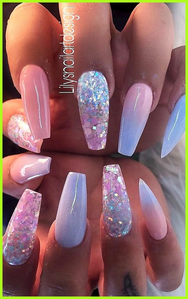 Top 100 Acrylic Nail Designs Of May 2019 Page 20 Of 99 Women World Blog Hello Ladies Who Are Fond Of Nails Want To Look At New Nail Desig In 2020