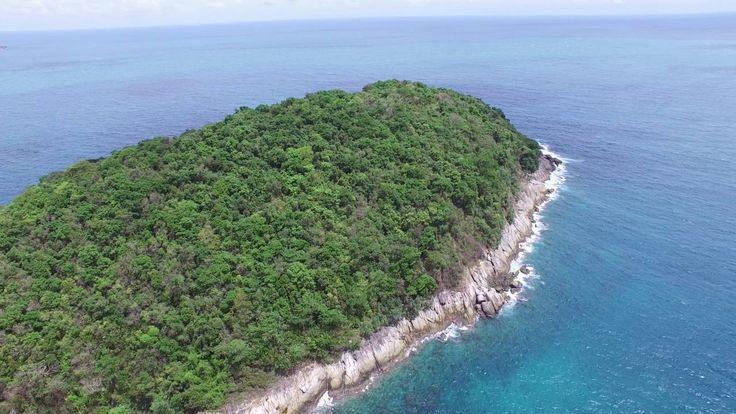 Thailand. Phuket. Small Island near NaiHarn. July 2016. 4k video.