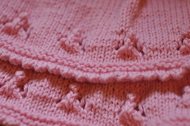 prettywoman's Berry Girl (test) - picots and eyelets with Zealana Willow DK