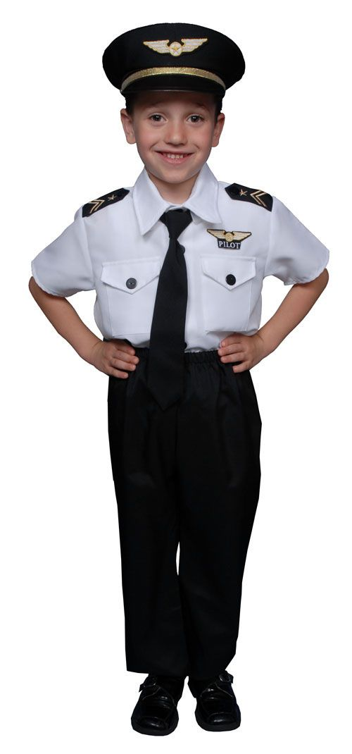 Pilot Boy Airline Pilot Costume for Kids HalloweenCostumes4u.com $30.00