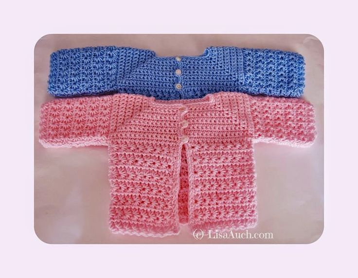 Free Crochet Pattern Baby Cardigan A Star is Born ...