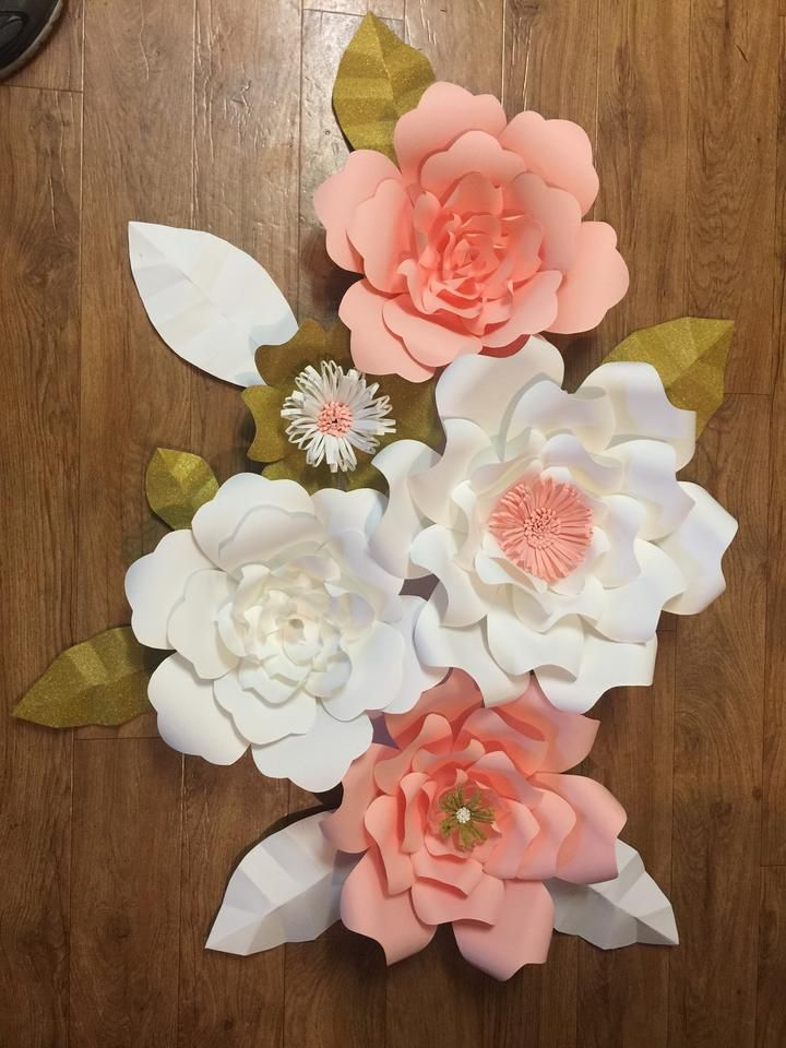 46cf87510 Paper flower 5 pc DIY Kit (please read announcement in description)