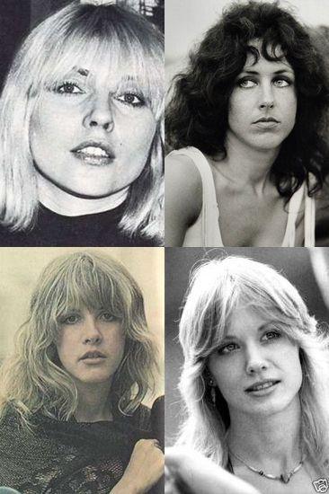 Four of the great 1970s female rock stars. Debbie Harry. Grace Slick, Stevie Nicks, Nancy Wilson