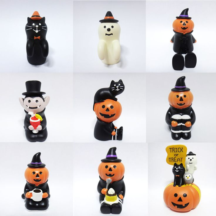 Concombre DECOLE Japan Cute Kawaii Figure Ornament Halloween Pumpkin Ghost SET #ConcombrebyDECOLE