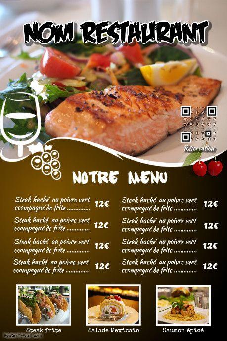 Best Flyer Pour Restaurant Images On   Flyers