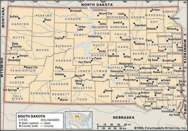 South Dakota With Images South Dakota County Map Dakota County