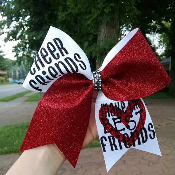 Cheer friends make the best friend cheer bow by CraftyOhBows