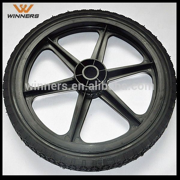 1 Semi Pneumatic Tyre With Plastic Wheel 12 Inch 14 Inch 16 Inch 20 Inch - Buy 12 Inch 14 Inch 16 Inch 20 Inch Semi Pneumatic Tyre With Plastic Wheel,Plastic Trailer Wheels,Tire Trailer Wheels Product on Alibaba.com