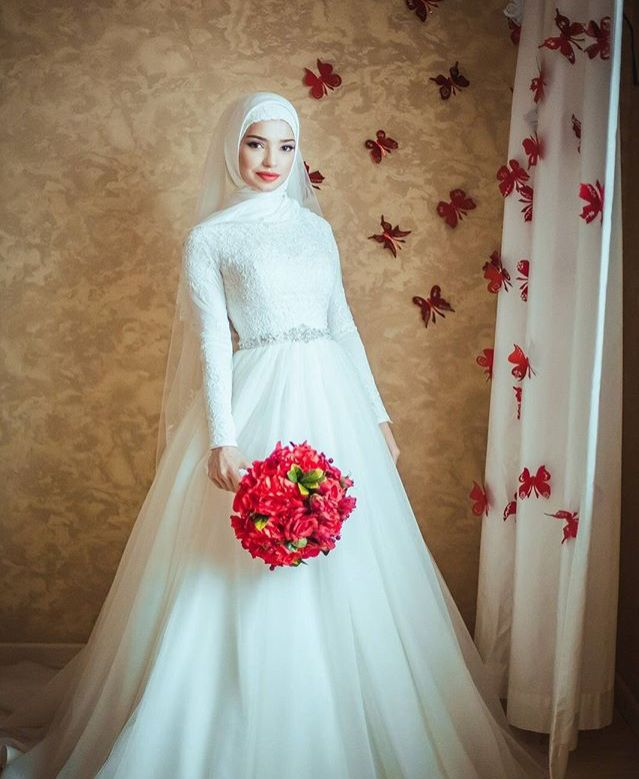 643 best Wedding dresseswedding images on Pinterest | Hijab wedding ...