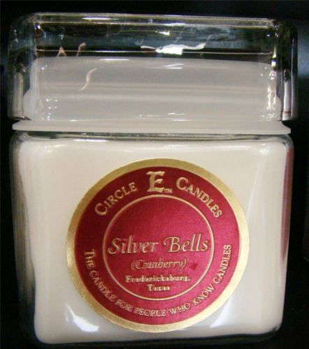 New Circle E Candle Silver Bells 12 oz Jar 78 Hours Fruit Cranberry Christmas | eBay