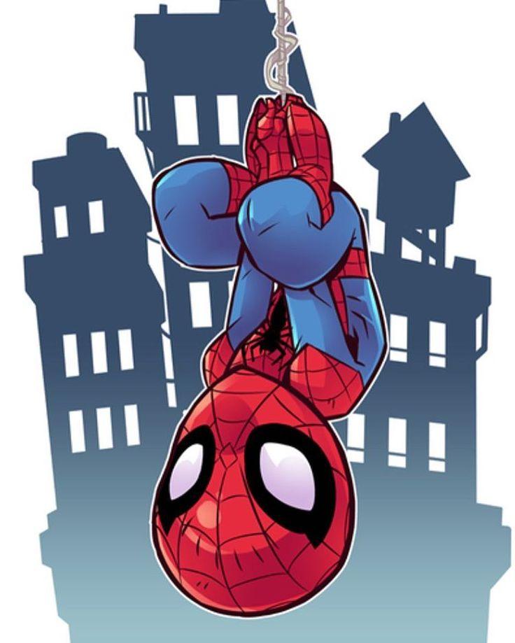 "6,493 Me gusta, 10 comentarios - Derek Laufman (@dereklaufman) en Instagram: ""Your friendly neighbourhood Spider-Man. Drawn for MARVEL's Super Hero Adventures. #marvel…"""