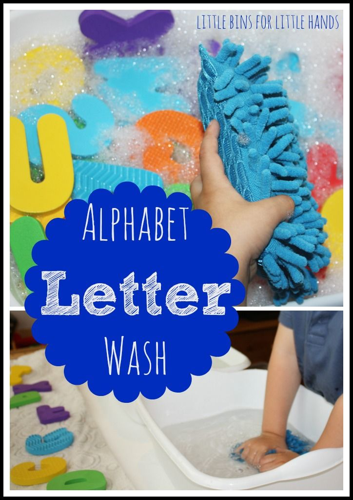 Simple To Create Sensory Alphabet Play: Washing Letters
