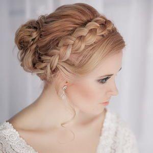 bellissima acconciatura sposa raccolta con treccia 2014, Parrucchiere e bellezza Roma (RM) - Annartstyle make up and hair, matrimonio wedding