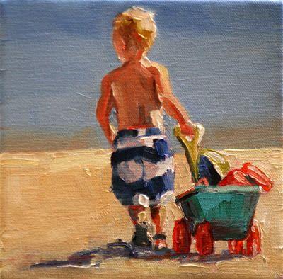 Carol Carmichael Paints  heading home 6x6