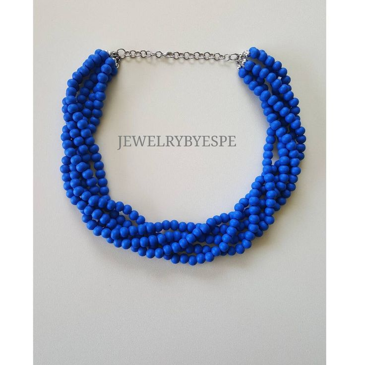 Navy Blue Necklace Statement Necklace Royal Blue Necklace Blue Wedding Jewelry Bridesmaid Multi Strand Necklace Chunky Layered Necklace by JewelrybyEspe on Etsy https://www.etsy.com/listing/535270920/navy-blue-necklace-statement-necklace