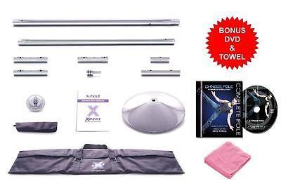 Dance Poles and Accessories 179805: Xpole Xpert 45Mm Nx Portable Chrome Dance X-Pole Jacob Kujo Lyons Dvd Towel BUY IT NOW ONLY: $299.0