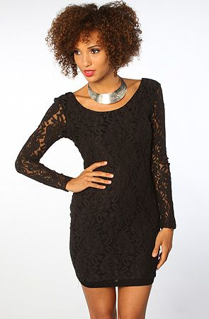 $88 The Crochet Sleeve Dress by Blaque Label