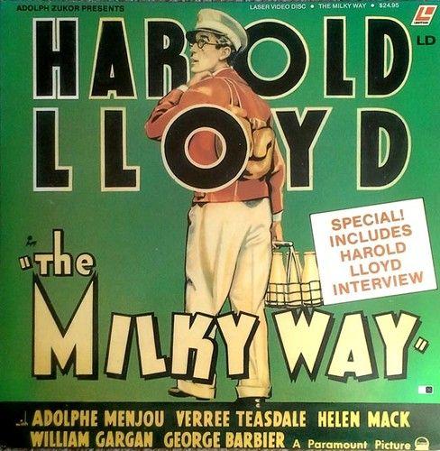 THE MILKY WAY - HAROLD LLOYD - LVA FILM CLASSICS - LASER DISC - 1990