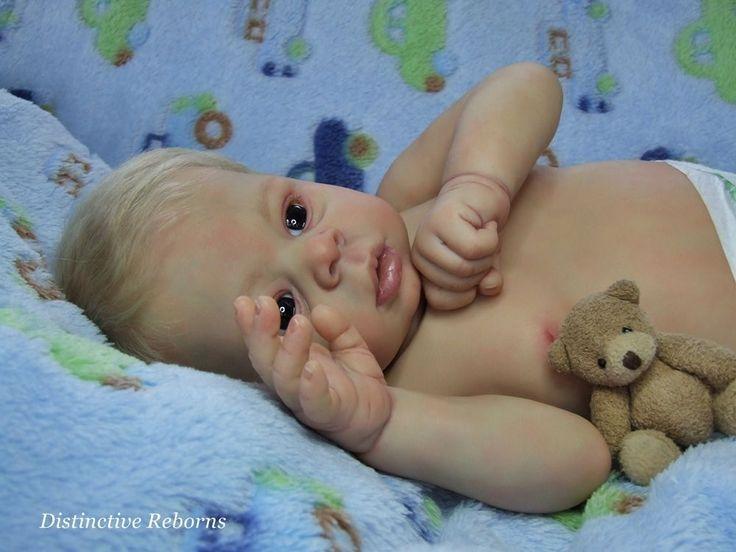 Distinctive Reborns NEWBORN Baby Boy Doll. Dominic Rafael By Laura Tuzio-Ross
