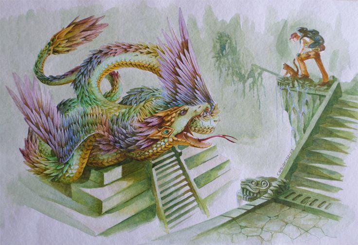 Quetzalcoatl Acrilics