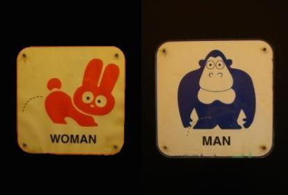 Carteles de baños públicos
