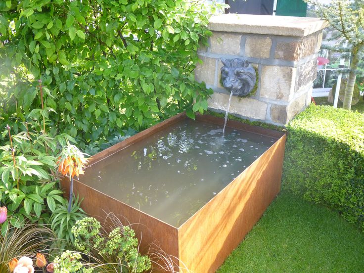 Who said our EverEdge Planters had to be restricted to growing plants? This bespoke watertight steel planter was implemented to make this fantastic water feature. The Cor-Ten finish produces a stable, rust effect layer that makes the steel less susceptible to corrosion.