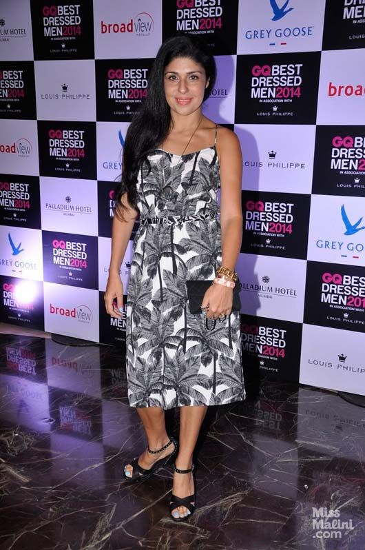 Palm prints for the monsoon. Worn by Anaita Adajania Shroff