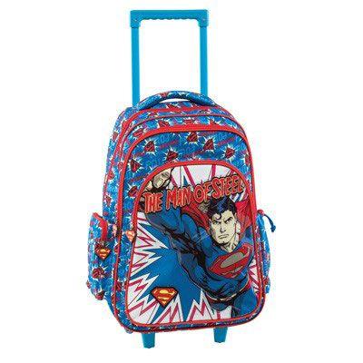 Superman Σχολική Τσάντα Δημοτικού Trolley