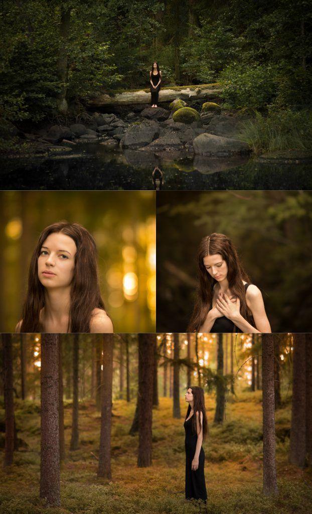 Art photo fairytale photo model photo by Swedish photographer Maria Lindberg. Inspired by the late Swedish artist John Bauer.