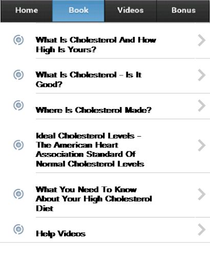 In order to understand why it is important to lower cholesterol, it is necessary to first understand what cholesterol is. Cholesterol is a fatlike waxy substance and is produced by the liver. Although cholesterol has purposes and is important to overall health and body function, too much cholesterol in the body has damaging effects.<p>This FREE Application answers the following questions,<p>What Is Cholesterol And How High Is Yours?<br>What Is Cholesterol - Is It Good?<br>Where Is…