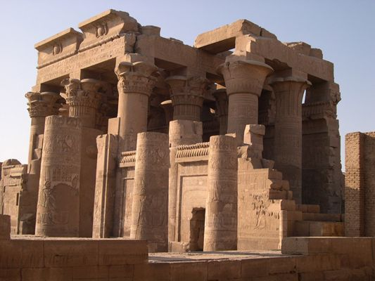 Kom Ombo, Egypt – along the banks of the Nile, a charming little temple dedicated to Sobek and Horus