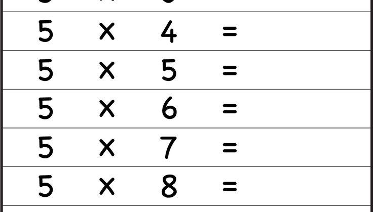 Multiplication Times Tables Worksheets - 2, 3, 4, 5, 6, 7, 8, 9,10, 11 & 12 Times Tables - Eleven Worksheets