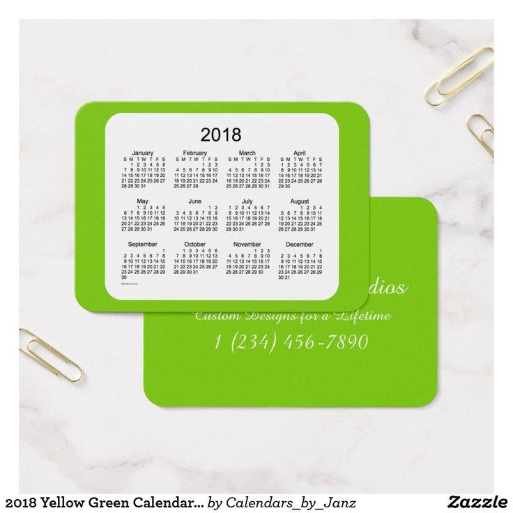 61 best Business Card Calendars images on Pinterest | Business ...