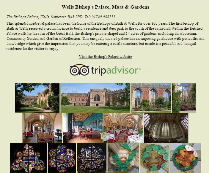 Bishop's Palace with moat and gardens in Wells, Somerset - Wells, Somerset