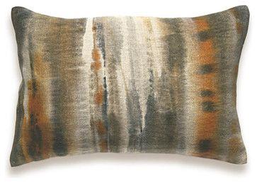 Rust Charcoal Khaki Beige Decorative Lumbar Pillow Cover 12x18 inch industrial-decorative-pillows